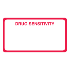 MAP5160 - DRUG SENSITIVITY - White Label with Red Print