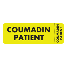 MAP5220-WR - COUMADIN PATIENT - Fl Chartreuse/Black