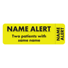 MAP6470 - NAME ALERT Labels - FL Chartreuse, Black Print