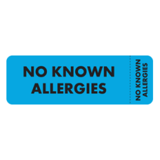 MAP6480 - NO KNOWN ALLERGIES - Blue with Black Print