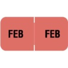 MBLM-02 | Feburary Month Labels Barkely FMBLM Size 3/4H x 1-1/2W Laminated 250/Box