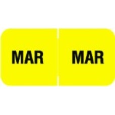 MBLM-03 | March Month Labels Barkely FMBLM Size 3/4H x 1-1/2W Laminated 250/Box