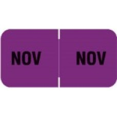 MBLM-11 | November Month Labels Barkely FMBLM Size 3/4H x 1-1/2W Laminated 250/Box