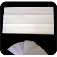 Label Protectors,  Mylar 2 x 11 Clear Self Adhesive Tab Protection Label 500/Pack