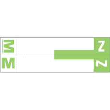 NCC-MZ |Smead 67164 Lt Green MZ Alpha Labels Size 1-5/32H x 3-5/8W 100/Pack