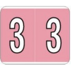 PSF138-3   Pink #3 Labels Kardex PSF-138 Size 1-1/4H x 1-1/2W Laminated 500/Box