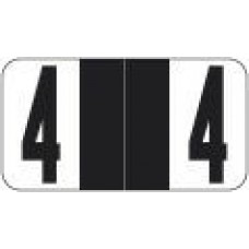 RAN-4 | Black #4 Labels Reynolds Autofile Size 7/8H x 1-5/8W 500/Box Laminated
