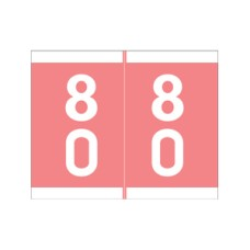 DSFM-80 | Pink #80-89 Barkley FDSFM Double Digit 1-3/16H x 1-1/2W Laminated 500/Box