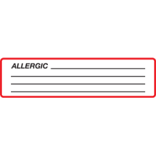 SIDA - ALLERGIC - Red and White Label with Black Print