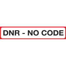 SIDDNR - DNR NO CODE - Red/White Label with Bk Print