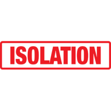 SIDI - ISOLATION - Red and White Label with Red Print