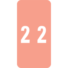 LCC-2 | Smead 67222 Pink #2 Numeric Labels Size 2H x 1W 250/Box