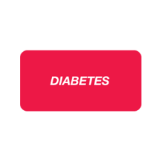 SY-1366 - DIABETES - Red Label With White Print 252/Pack