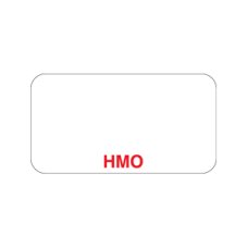 UL006 - HMO - White Label with Red Print 500 Labels/Box