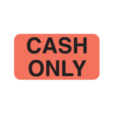 UL027 - CASH ONLY - Fluorescent Red with Black Print