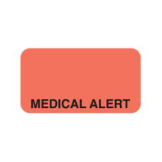 UL188 - MEDICAL ALERT - Fluorescent Red with Black Print