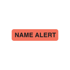 UL366 - NAME ALERT - Fluorescent Red with Black Print