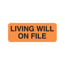 UL590 - LIVING WILL - Fluorescent Orange with Black Print