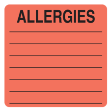 UL926 - Allergy Warning Labels - FL Red with Black Print