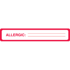 UL927 - ALLERGY LABELS, UL927, Allergy Stickers Warning