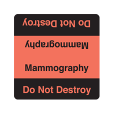 UL967 - MAMMOGRAPHY Label Black And Fluorescent Red