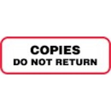 XCODNR | COPIES DO NOT RETURN Label, Black Print with Red Border, 1000/bx