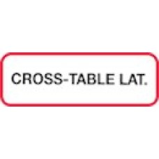 XCROSS | CROSS-TABLE LAT Label, Printed Blk with Red Border, 1000/bx