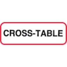 XCROSS2 | CROSS-TABLE Label, Sz 1/2 X 1-1/2, Printed Blk with Red Border, 1000/bx
