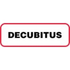 XDECUBITUS | DECUBITUS Label, Sz 1/2 X 1-1/2, Printed Blk with Red Border, 1000/bx