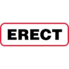 XERE | ERECT Label, Sz 1/2 X 1-1/2, Printed Black with Red Border, 1000 /bx