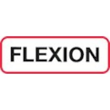 XFLEX | FLEXION Label, Sz 1/2 X 1-1/2, Printed Black with Red Border, 1000/bx
