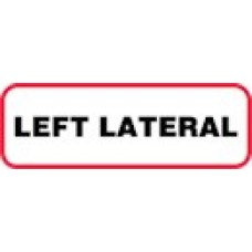 XLL | LEFT LATERAL Label, Sz 1/2 X 1-1/2, Printed Black with Red Border, 1000/bx