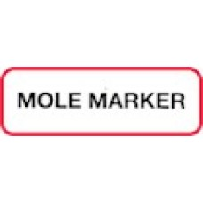 XMOLE | MOLE MARKER Label, Sz 1/2 X 1-1/2, Printed Blk with Red Border, 1000/bx