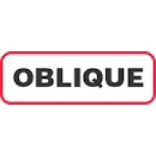 XOBL | OBLIQUE Label, Sz 1/2 X 1-1/2, Printed Black with Red Border, 1000/bx