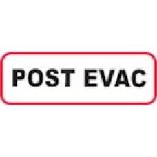 XPOEV | POST EVAC Label, Sz 1/2 X 1-1/2, Printed Black with Red Border, 1000/bx