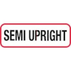 XSEMUP | SEMI UPRIGHT Label, Sz 1/2 X 1-1/2, Printed Blk with Red Border, 1000/bx