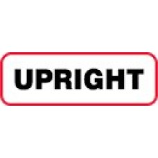 XUP | UPRIGHT Label, Sz 1/2 X 1-1/2, Printed Black with Red Border, 1000/bx