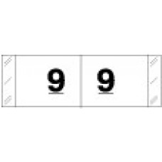 "11839 | White/Blk #9 Labels Tabbies Col""R""Tab Size 1/2H x 1-1/2W Laminated  500/Box"