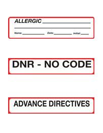 Medical Binder Labels
